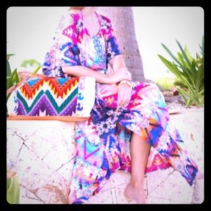 Other - Bright Aztec print Bathing suit cover up